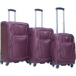 CalPak Barclay 3 Piece Exp. Luggage Set (Deep Red