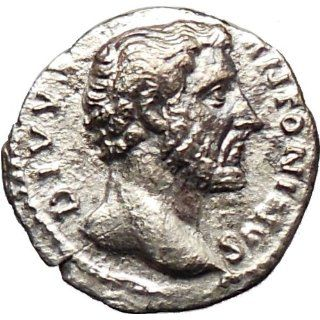 ANTONINUS PIUS under Marcus Aurelius Silver Authent Roman