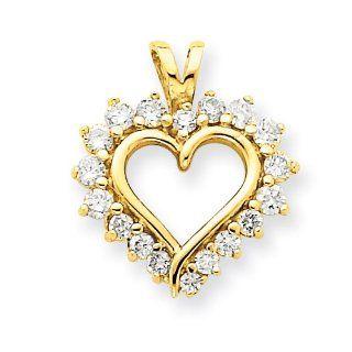 14k Yellow Gold Heart Pendant Mounting Jewelry