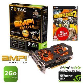 Zotac GTX660 Ti AMP 2Go DS+Borderlands 2   Achat / Vente CARTE