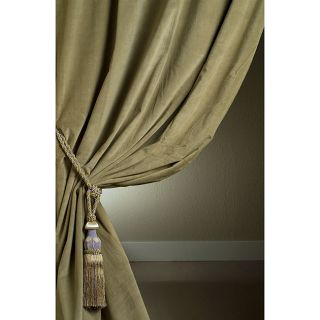 Ash Green Velvet Double wide 108 inch Curtain Panel