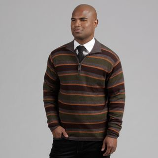 Weatherproof Mens Walnut Striped Wool/Cashmere Blend Sweater