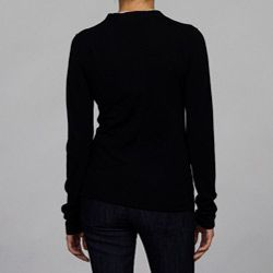 Burberry Womens Black Merino Wool Cardigan