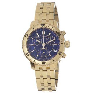 Tissot Mens PRS 200 Blue Chronograph Dial Yellow Gold Watch