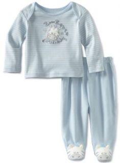 Vitamins Baby  boys Newborn 2 Piece Footed Pajama Set