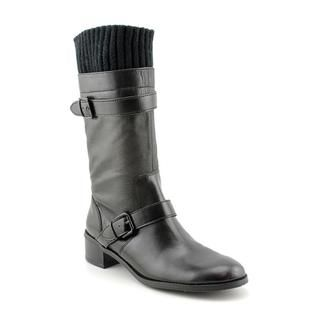 Ellen Tracy Womens Teddy Faux Leather Boots