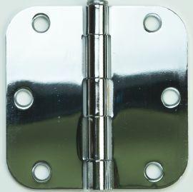 Don Jo PB73535 US26 3.5 x 3.5 Residential Hinge, 5/8 Radius, Bright
