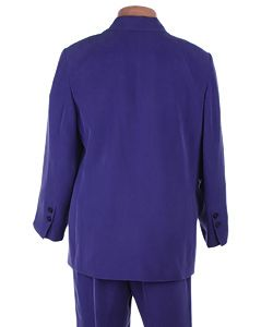 Travis Ayers Plus Size Royal Purple Silk Pant Suit