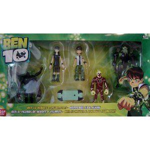 Ben 10 Heroes & Villains Figure Set Sixsix, Kevin 11, Ben