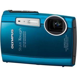Olympus Stylus Tough 3000 12MP Blue Digital Camera with 2GB Kit