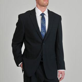 Montefino Mondo Mens Super 120 Merino Navy Stripe Wool Suit