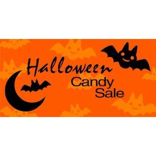 3x6 Vinyl Banner   Halloween Candy Sale Everything Else