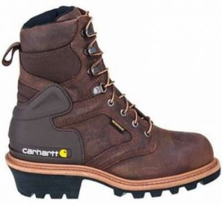 Insulated Soft Toe Logger Boots Crazy Horse Brown Size 8 Med Shoes