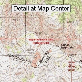 USGS Topographic Quadrangle Map   Upper Red Rock Lake
