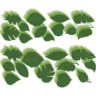 Flowers Bling Green Leaves Die Cuts (Pack of 108)