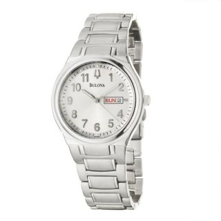 Bulova Mens Bracelet Stainless Steel Quartz Watch