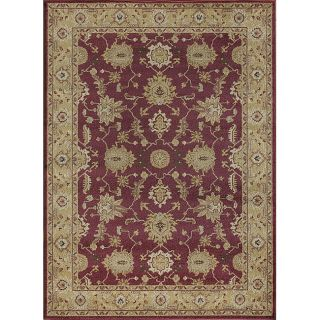 Emotions Red/ Gold Oriental Rug (52 x 77)