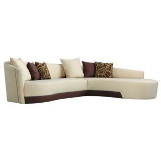 Modern Two tone Fabric Sectional Sofa