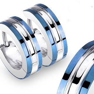 Boucles doreille acier Steel Design   Boucles doreille en acier 316