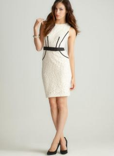 Taylor Sleeveless Lace Dress W/Ribbon