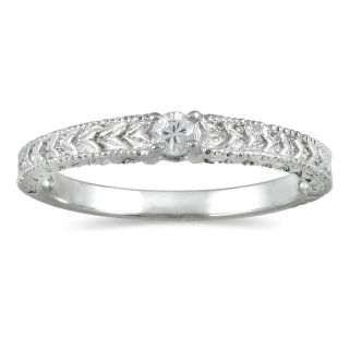 14k White Gold Diamond Accent Promise Ring