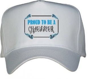Proud To Be a Chauffeur White Hat / Baseball Cap Clothing