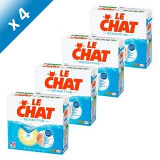 LE CHAT Sensitive 27 lavages x4   Achat / Vente LESSIVE LE CHAT SENSI