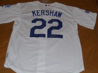 Clayton Kershaw Signed Jersey   Autographed MLB Jerseys