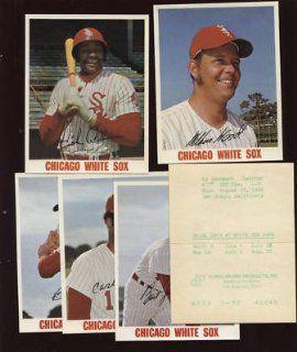 1972 74 Chicago White Sox Decals 6 Different NRMT   MLB