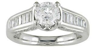 14k White Gold 1 1/2ct TDW Diamond Engagement Ring (G I, SI2 I1