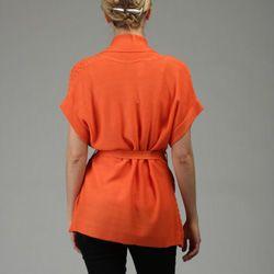 212NY Womens Belted Drape Cardigan