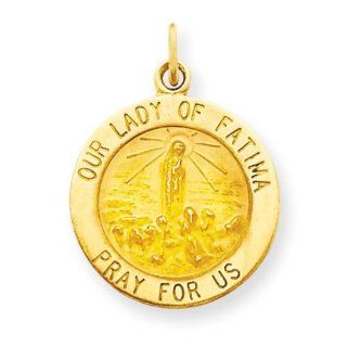 Our Lady Of Fatima Medal in 14k Yellow Gold Jewelry