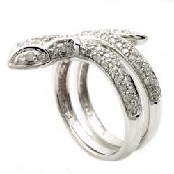 Beverly Hills Charm 14k White Gold 3/4ct TDW Diamond Snake Ring (H I