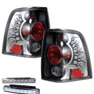2003 2006 FORD EXPEDITION REAR BRAKE TAIL LIGHTS LAMP BLACK+LED BUMPER