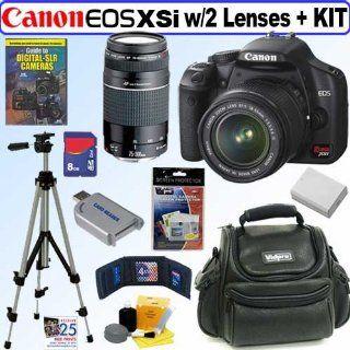 Canon Digital Rebel XSi 12MP Digital SLR Camera (Black