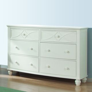 Piston White Modern Cottage 6 drawer Dresser