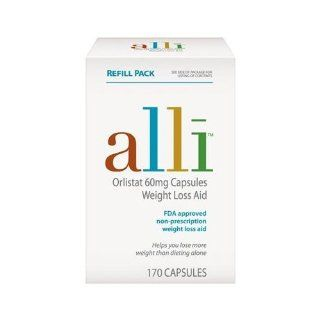 Alli, 60mg, 170 Count Refill Pack Health & Personal Care