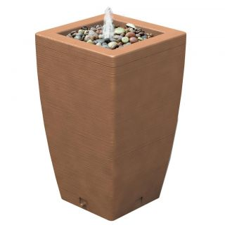 Algreen 84001 Madison 49 gallon Terra Cotta Fountain