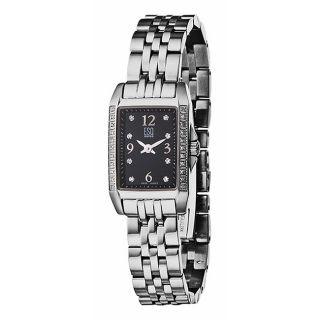 ESQ by Movado Womens Capri Stainless Steel Black Dial Watch