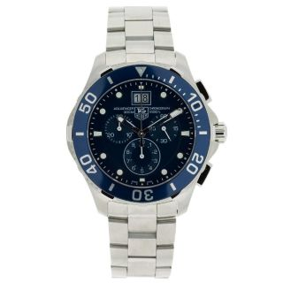 Tag Heuer Mens Aquaracer Stainless Steel Blue Dial Watch