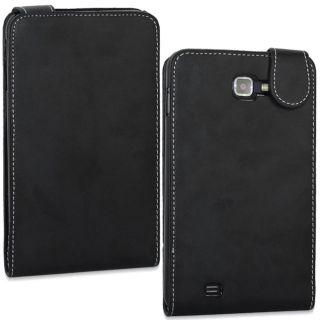 SKQUE Samsung Galaxy Note Black Leather Case