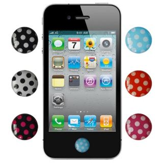 SKQUE Polka Dots Home Button Sticker for iPhone/ iPad/ iPod Touch