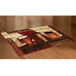 Mohawk Home Jazzy Coffee Red Kitchen Rug (18 x 39)