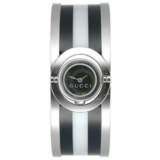 Gucci 112 Twirl Womens Small Stainless Steel Black Watch