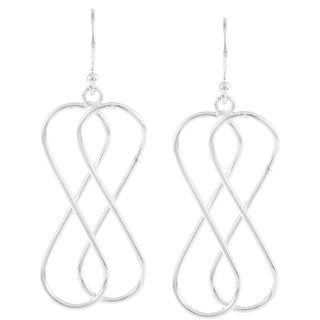 La Preciosa Sterling Silver Double Infinity Earrings