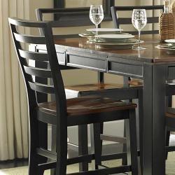 Acacia Lynn 7piece Two tone Counter Height Table Set