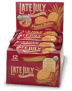 Late July Organic Peanut Butter Sandwich Crackers, 1.3 Ounce Pouches