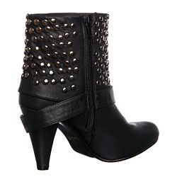 Bucco Womens 17 221  Studded Belted Ankle Boot