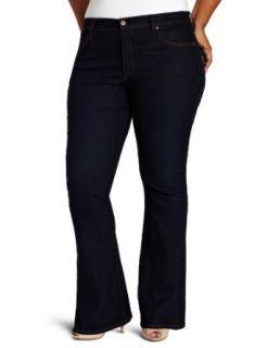 James Jeans Womens Plus Size Juliette Z Flare Wash Jean