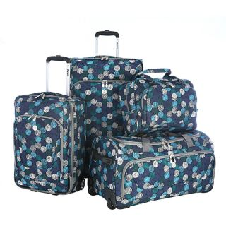 Olympia Sapphire Four piece Expandable Polyester Luggage Set Today $
